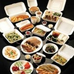 Food containers made from polystyrene